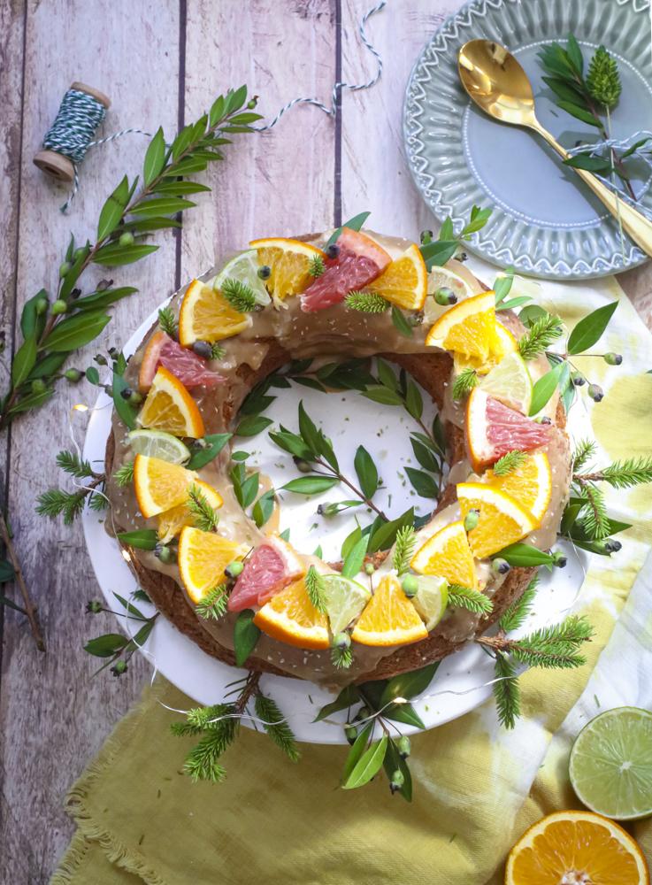 gâteau aux épices et aux agrumes