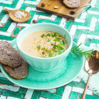 soupe blanche et verte